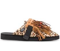 'Biscuit Leopard Suicoke' Slipper