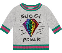 Children's sweatshirt with diamond