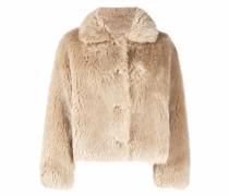 Kurze Jacke aus Faux Fur