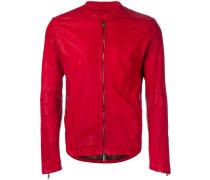 round-neck zip jacket