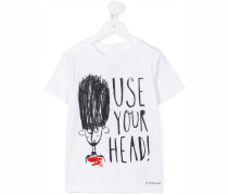 'Use Your Head' T-Shirt - kids - Baumwolle - 8