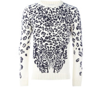 Pullover mit Panther-Print