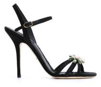 Sandalen mit Kristallblume