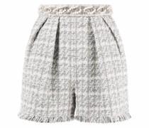 Tweed-Shorts mit Perlen