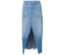 Jeans-Midirock mit Schlitz