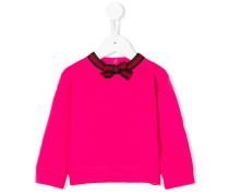Sweatshirt mit Webstreifen-Fliege