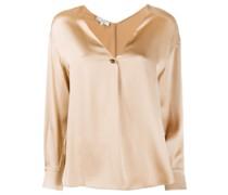 button V-neck blouse