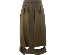 layered cut-detail skirt