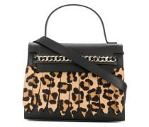 leopard effect tote bag