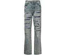 Gerade Jeans im Distressed-Look