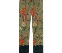 Flora Snake print chino trousers
