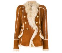 button-embellished shearling jacket