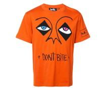 """T-Shirt mit """"Don't Bite""""-Stickerei"""