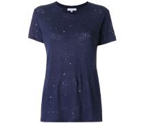 'Clay' T-Shirt in Distressed-Optik