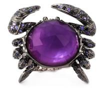 'Crab Crystal Haze' Ring aus 18kt Weißgold