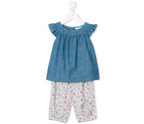 floral ruffled tracksuit set - kids - Baumwolle