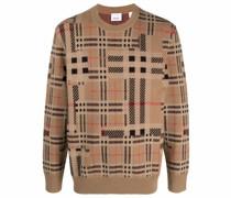 contrast check jacquard jumper