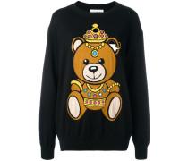 Intarsien-Pullover mit Bären-Motiv - women