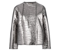 metallic zipped jacket