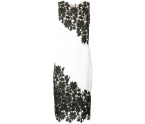 embroidered lace panel dress