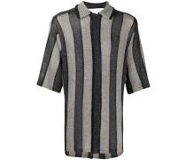 Gestricktes Hemd in Metallic-Optik