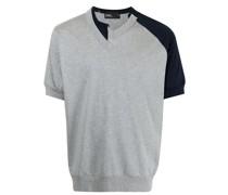 T-Shirt mit asymmetrischem Einsatz
