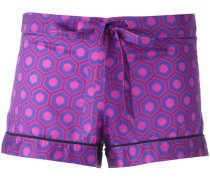 Pyjama-Shorts mit Print