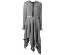 Tweed-Kleid mit zipfeligem Saum