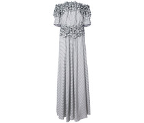 Maia floral embroidered striped gown
