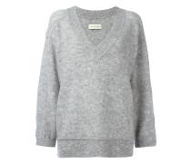 - loose-fit sleeves V-neck jumper - women