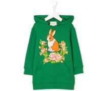 Kapuzenpullover mit Kaninchen-Print