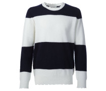 Gestreifter Pullover in Distressed-Optik