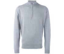 Henley-Pullover mit Reißverschluss