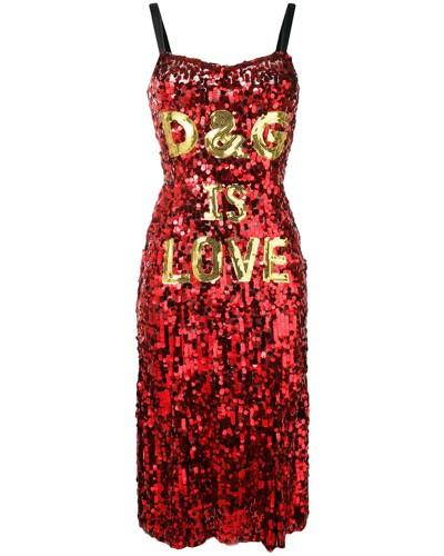 'D&G is love' Paillettenkleid
