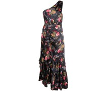 One-Shoulder-Kleid mit Blumen-Print