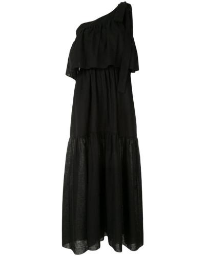 Langes One-Shoulder-Kleid