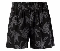 Shorts mit Blatt-Print