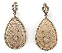 Kleine 18kt Goldohrringe mit Diamanten