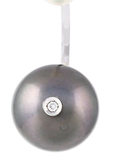 18kt 'Pearl Piercing' Weißgoldohrring