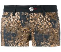 Shorts mit Leoparden-Print