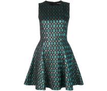 Jacquard-Kleid mit Metallic-Finish