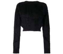 Texturierter Cropped-Pullover
