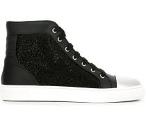 High-Top-Sneakers mit Swarovski-Kristallen