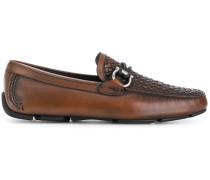 Gancio woven loafers