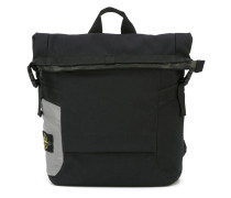 top zip square backpack