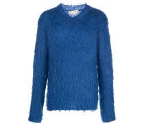 Pullover aus gebürsteter Mohairwolle