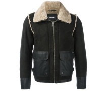 Shearling-Jacke mit aufgesetzten Taschen