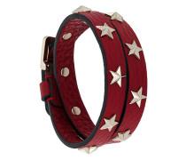 Wickelarmband mit Stern-Nieten
