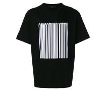 T-Shirt mit Strichcode-Print