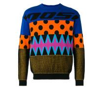 Pullover mit Patchwork - men - Baumwolle - 46
